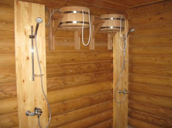 Зона для контрастных процедур, русская баня