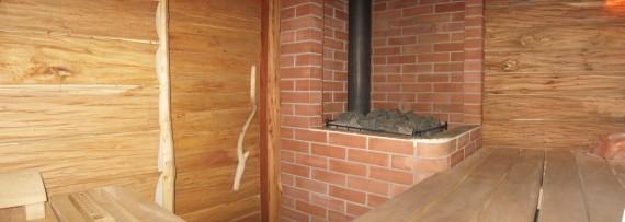 Печь парАвоз в Русской бане, дымоход в бане