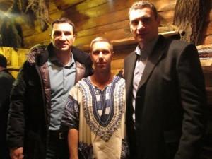 Братья Кличко в бане, кузьмичевские бани, русинские бани