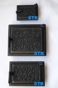 Печное чугунное литье STK C50, комплект дверей для печи, купить чугунные дверки