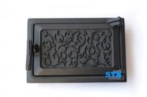 Дверь зольная STK C52, купить дверцу чугунную для печи, дверцы чугунные для котлов от производителя, красивые чугунные дверцы