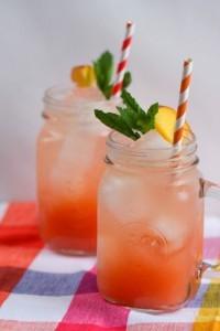 Персиковый лимонад,как сделать лимонад самостоятельно, рецепт лимонада, лимонад из натуральных продуктов